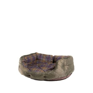 """Barbour 30"""" Quilted Dog Bed - Olive Textile"""