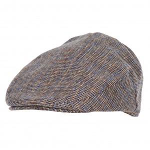 Barbour Wilkin Flat Cap - Beige Check