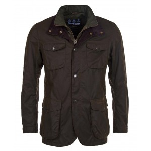 Barbour Ogston Waxed Cotton Jacket - Olive
