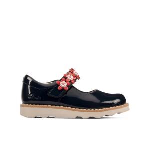 Clarks Crown Petal Toddler Shoes - Navy Patent