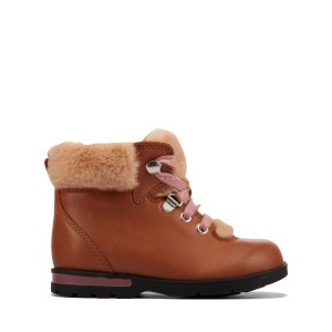 Clarks Dabi Hiker Toddler Boots - Tan Leather