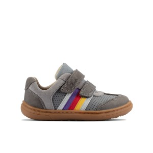 Clarks Flash Beau Toddler Shoes - Grey Leather