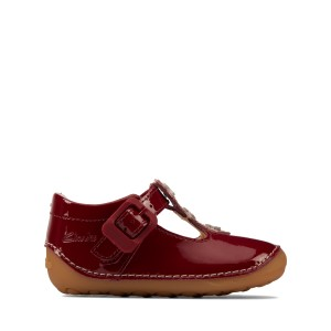 Clarks Tiny Flower Toddler Cruisers - Cherry Red Patent