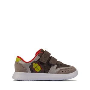 Clarks Ath Glow Toddler Trainers - Grey Combination
