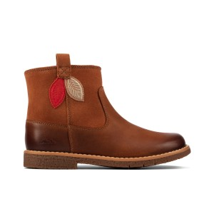 Clarks Comet Style Kids Boots - Tan Leather