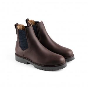 Fairfax & Favor Sheepskin Boudica Boots - Mahogany