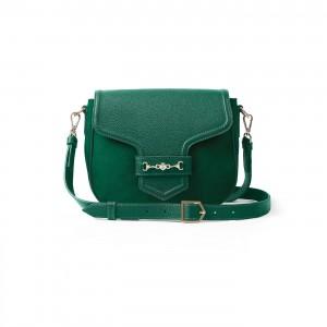 Fairfax & Favor Fitzwilliam Saddle - Emerald Suede