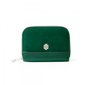 Fairfax & Favor Mini Salisbury Purse - Emerald Suede