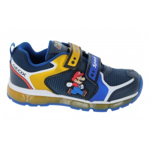 Geox Android J1644a Super Mario Trainers - Royal/Yellow