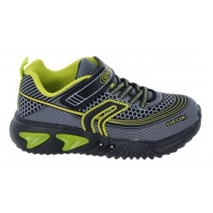 Geox Assister J15DZA Trainers - Black/Lime