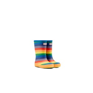 Hunter K First Classic KFT5078RMA Wellies - Rainbow Print
