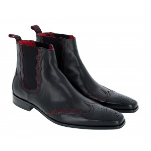 Jeffery West K592 Boots - Black/Burgundy
