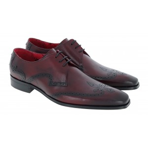 Jeffery West K590 Shoes - Burgundy Leather/Black