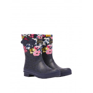 Joules Molly  214785 Wellingtons - Navy Floral Leopard
