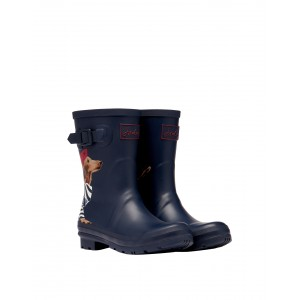 Joules Molly 214785 Wellingtons - Navy Sausage Dog