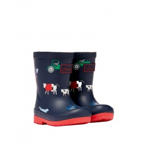 Joules Baby Welly Print 214827 Wellies - Navy Animal