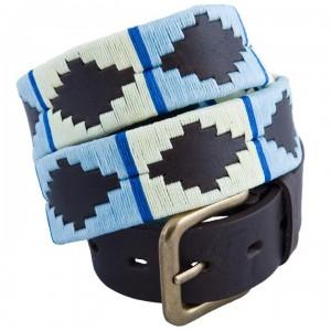 Pioneros 142 Polo Belt - Pale Blue/White