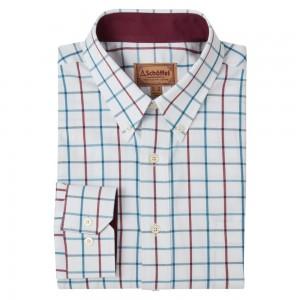 Schoffel Brancaster Shirt - Bordeaux/ Dark Teal