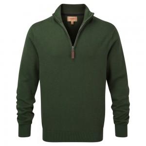 Schoffel Cotton Cashmere 1/4 Zip Jumper- Racing Green