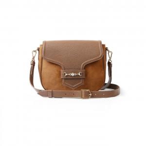 Fairfax & Favor Fitzwilliam Saddle Bag - Tan Suede