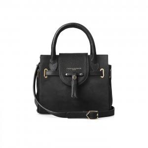 Fairfax & Favor Mini Windsor Handbag - Black Suede