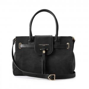 Fairfax & Favor Windsor Handbag - Black Suede