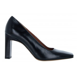 The Golden Boot 1000 Leather Court Shoes - Black