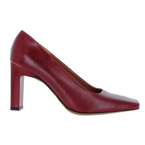 The Golden Boot 1000 Leather Court Shoes - Red