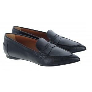 The Golden Boot 1054 Leather Loafers - Black