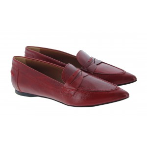 The Golden Boot 1054 Leather Loafers - Red