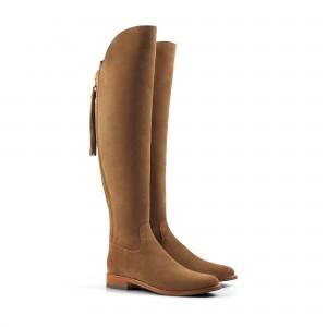 Fairfax & Favor Amira Flat  Boots - Tan Suede