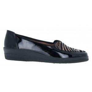 Gabor Blanche 56.404 Shoes - Black/ Bronze Patent