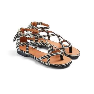 Fairfax & Favor Brancaster Sandals - Zebra Haircalf