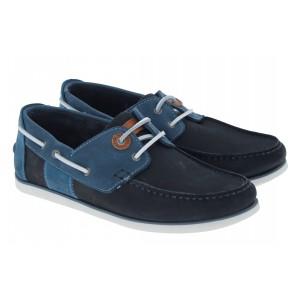 Barbour Capstan MFO0304 Deck Shoes - Double Blue