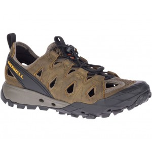 Merrell Choprock Leather Sieve J034245 Shoes - Cloudy/Gold
