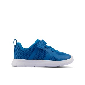 Clarks Ath Flux Toddler Trainers - Blue Synthetic
