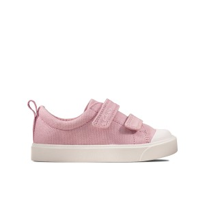 Clarks City Bright Toddler Canvas Shoes - Pink