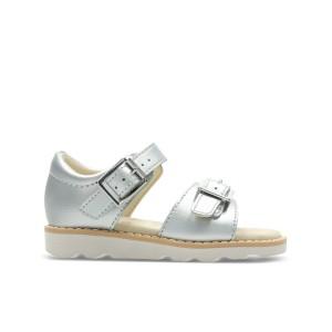 Clarks Crown Bloom Toddler Sandals - Silver