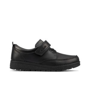 Clarks Mendip Tor Kid School Shoes - Black