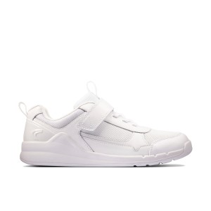 Clarks Orbit Sprint Youth Trainers - White