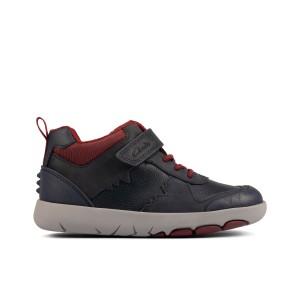 Clarks Rex Park Kid Boots- Navy Leather