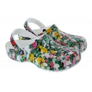 Crocs Classic Printed Floral Clogs - Multi/White