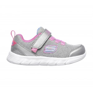 Skechers Comfy Flex 302107N Trainers-Silver/Hot Pink