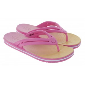 Crocs Crocband Ombre Flip Flops - Pink Lemonade