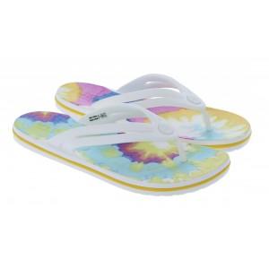 Crocs Crocband Tie Dye Flip Flops - White