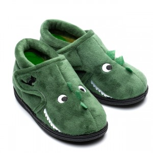 Chipmunks Danny Dinosaur Slippers - Green