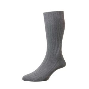 Pantherella Danvers Socks - Mid Grey Mix