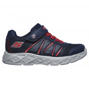 Skechers Dynamic Flash 401530L Trainers - Navy/Red