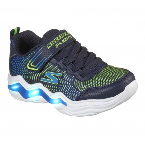 Skechers Erupters IV 400125L Trainers - Navy/Lime