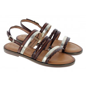 Tamaris Esper 28141 Sandals - Cognac Combi